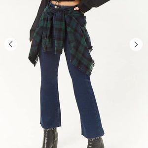 Hi-rise flare jeans